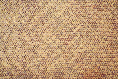 straw mat: Brown rattan weave for closeup textured background