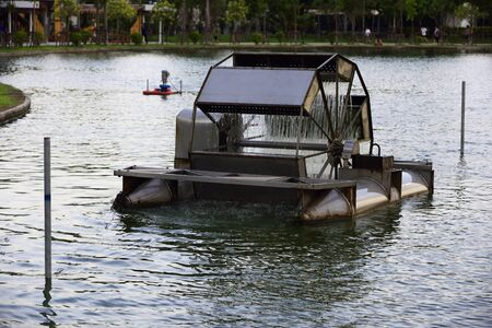 water turbine: water turbine aeration on the pond for water cleansing