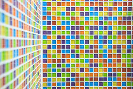 ceremic: Colorful mosaic ceremic background for modern house interior