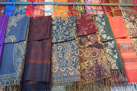Thai textile hanging for sale at Chatuchak weekend market