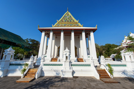 nontaburi: Wat Chaloem Prakiat Worawihan Temple in Nontaburi , Thailand Stock Photo