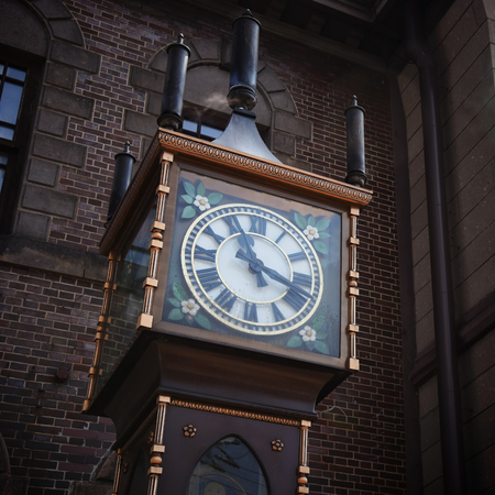 Otaru Steam Clock Tower. This imported from Vancouver to Otaru and well-known as the symbol of the city