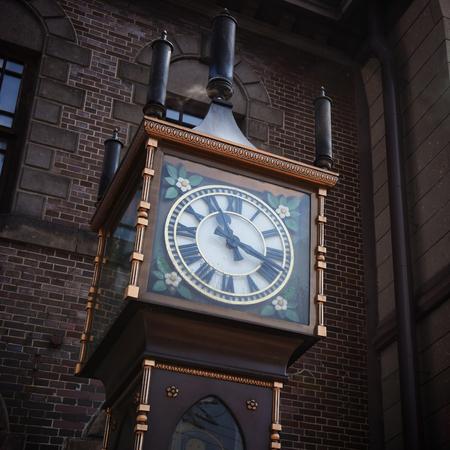 Otaru Steam Clock Tower. Dit geïmporteerd uit Vancouver naar Otaru en goed bekend als het symbool van de stad Stockfoto
