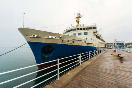 honshu: HAKODATE, HOKKAIDO - APRIL 22: Seikan Ferry Memorial Ship Mashu-maru.  This ferry operated between Hokkaido and Honshu until 1988. Editorial