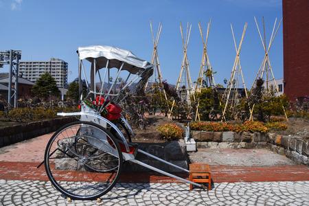 rikscha: Japanese rickshaw at Otaru city, Hokkaido, Japan