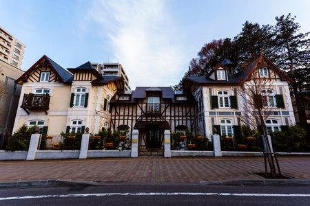 sapporo: Luxury Europe house in Sapporo, Hokkaido, Japan Editorial