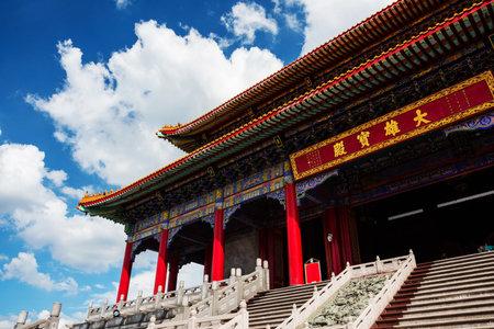 lengnoeiyi: Closeup Chinese Buddhist monastery of Wat Leng Noei Yi, Nonthaburi, Thailand Editorial