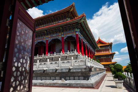 lengnoeiyi: Gateway to Chinese temple at Wat Leng Noei Yi, Nonthaburi, Thailand