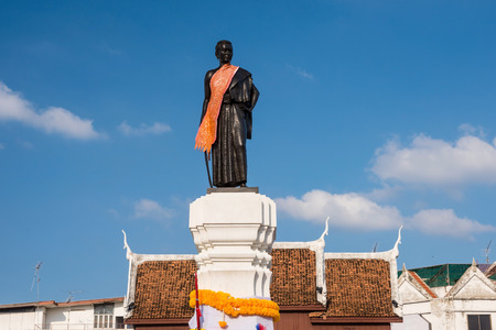 Thao Suranaree or Khun Ying Mo monument. She is a wife of King Rama III and managed to save the city from the invasion of the Laotian army.