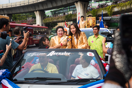 superstar: BANGKOK, THAILAND - AUGUST 26, 2016: Olympic badminton superstar, Ratchanok Intranon, on the car to celebrate the finish of 2016 olympic game. Thailand got 2 gold, 2 silver, and 2 bronze medals.