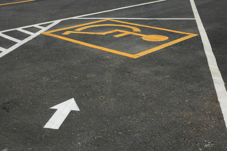 Outdoor parking lot reserved for handicapped or  disabled person Stock Photo