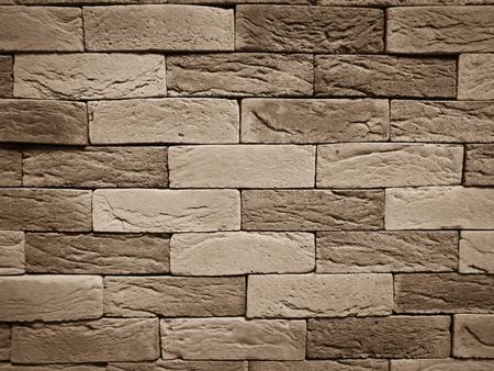 modern bathroom: Brown modern brick wall textured background for luxury interior building Stock Photo