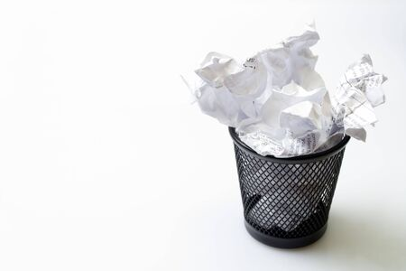 Metal basket with papers garbage Stock Photo - 6676726