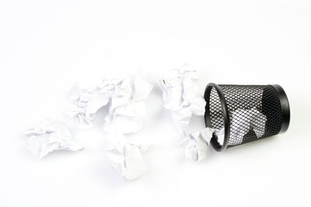 Mesh basket with paper garbage Stock Photo - 6676725