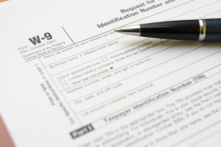 requesting: W-9 tax form as a business concept with requesting for TIN