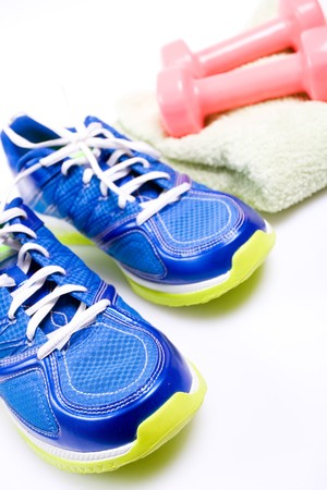Stay fit with exercises, fitness concept Stock Photo - 7712232