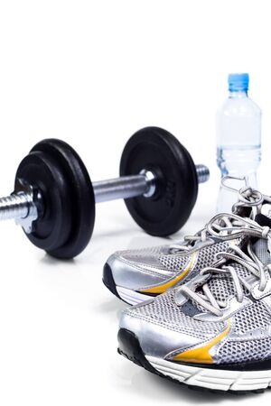 Stay fit with exercises, fitness concept 版權商用圖片