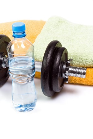 Stay fit with exercises, fitness concept Stock Photo - 7712175