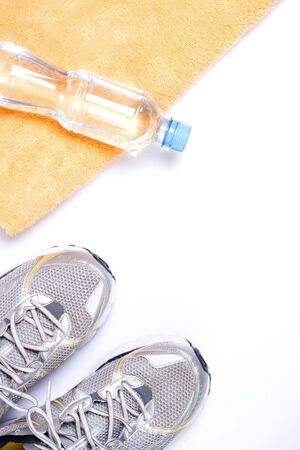 Exercise and drink water, fitness concept Stock Photo - 7712255
