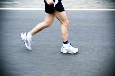 Marathon runner motion blur Stock Photo - 7944153