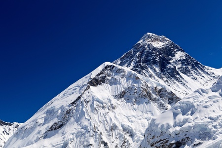 himalayas: Mount Everest Summit in Himalaya Mountains, Nepal