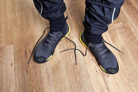 Trail running shoes ready to workout photo