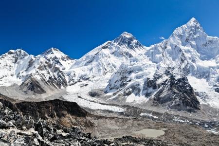 glacier national park: Mount Everest Summit in Himalaya Mountains, Nepal
