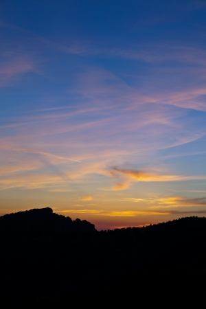lofty: Mountains landscape, sunset in Corsica, France