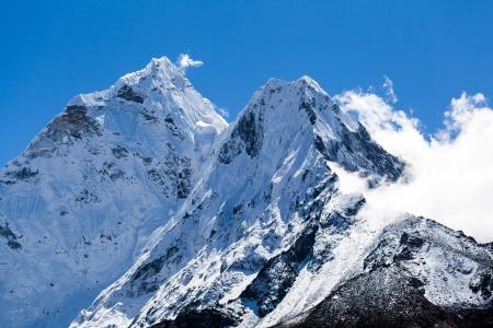 summit: Mount Ama Dablam in Himalaya Mountains, Nepal