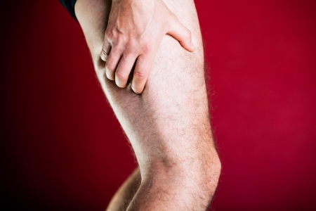 Running physical injury, leg pain photo