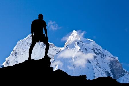 himalaya: Mount Ama Dablam in Himalaya Mountains, Nepal