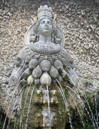 goddess diana fountain in villa d este near tivoli, italy Stock Photo