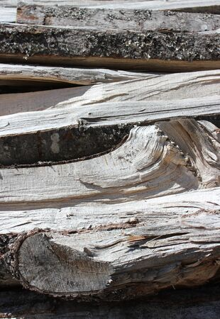stack of chopped wood - detail photo