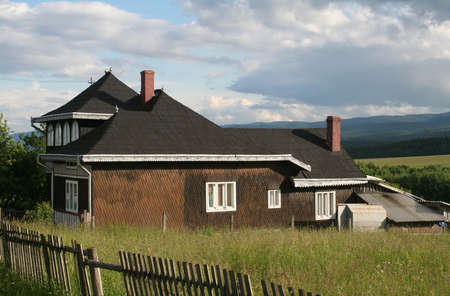 country house in northeast romania Stock Photo