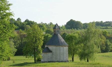 landscape with romanesque rotunda church in Selo, Slovenia Stock Photo - 14249595