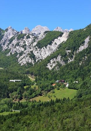 woody alpine pass linking Slovenia and Austria - Ljubelj, Slovenia Stock Photo - 14249644