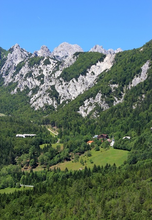 woody alpine pass linking Slovenia and Austria - Ljubelj, Slovenia Stock Photo - 14249644