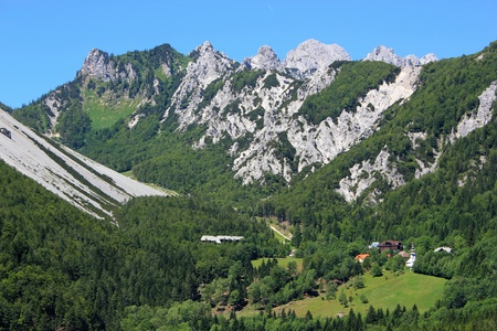 ski resort and old alpine pass linking Slovenia and Austria - Ljubelj, Slovenia Stock Photo - 14249646