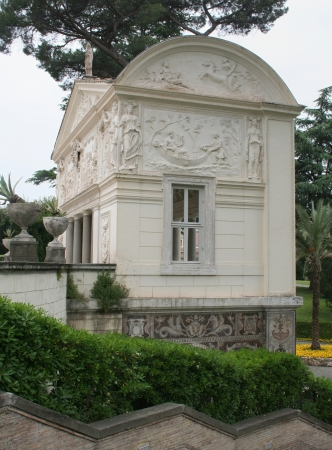 Nympheum of the Casina Pio IV with stucco and mosaic decorations, Vatican gardens, Vatican City, Rome, Europe