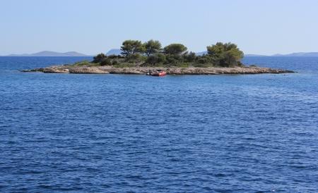 Small remote dalmatian island in the Adriatic sea- Kornati, Croatia Stock Photo