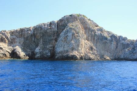 islet: Kornati cliff islet seascape, Dalmatia, Croatia