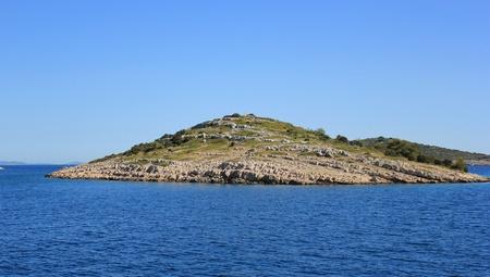 Little Kornati islet in the Adriatic sea, Mediterranean landscape - Dalmatia, Croatia, Europe photo