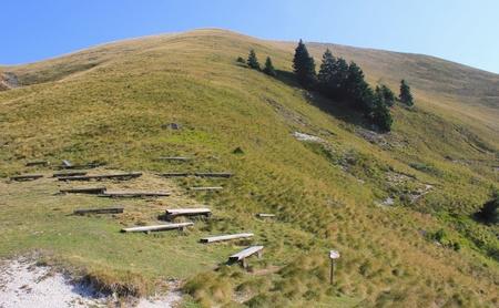 karawanks: Summer mountain hiking landscape - Golica, Slovenia