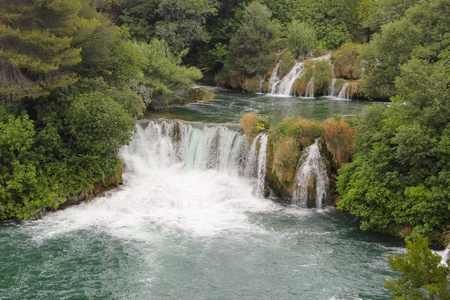 Krka river waterfalls - UNESCO Natural World Heritage Site, Croatia photo