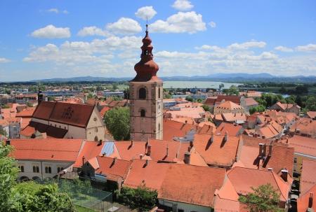 Old town center of Ptuj, Slovenia, Europe