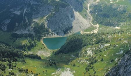 Lake Krn landscape, Julian Alps, Slovenia