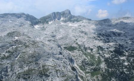 Krn Mountains landscape - World War I battlefield Julian Alps, Slovenia