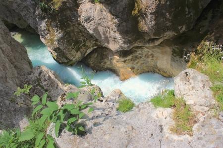 Riverbeds of Soca, Triglav National Park, Julian Alps, Slovenia photo