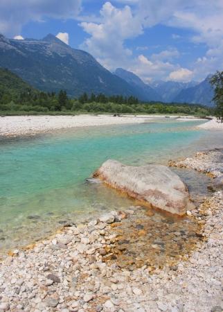 Magnificent Soca river, Bovec, Julian Alps, Slovenia