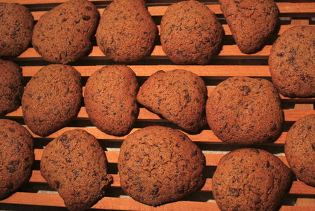 Freshly baked muffins - close view photo